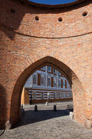 Arched City Gate of the Warsaw Barbican
