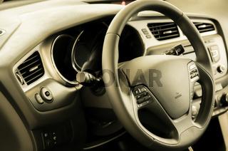 Fresh and new car interior