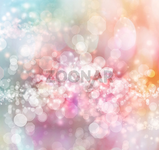 Abstract octagon shaped lights background