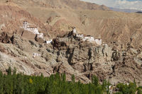The fortress monastery high above the Basgo village