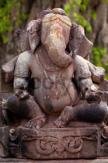 Ganesh Hindu god stone statue India