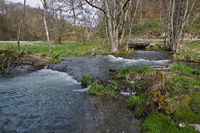 In the valley of the River Lauter, Swabian Alb biosphere area, Germany