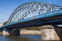 Jozef Pilsudski Bridge on Vistula River in Krakow