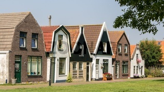 Village Oudeschild at Texel in the Netherlands