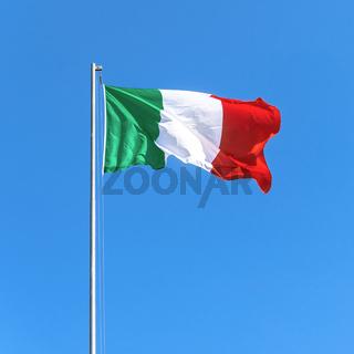 Italian flag on sky