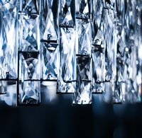 Crystal glass chandelier as home decor, interior design and luxury furniture detail, holiday invitation card background