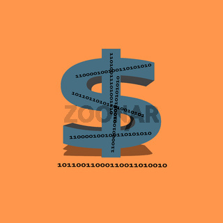 Concept illustration for digital dollar which the Federal Reserve are investigating