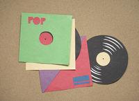vinyl records . cut out
