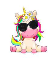 Unicorn baby with glasses