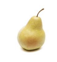Ripe pear made of plastic