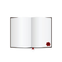 Book Isolated on white with Sample Text