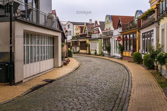 Street in Warnemuende, Mecklenburg-Western Pomerania, Germany