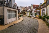 Street in Warnemuende, Mecklenburg-Western Pomerania, Germany