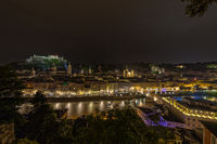 UNESCO world heritage Salzburg at night