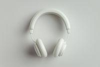 White headphones 3D illustration