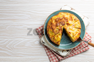 Spanish tortilla omelette with potatoes