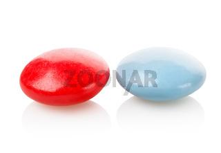 Two pills vitamins