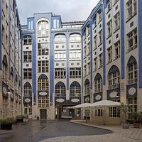 Hackesche Hoefe, facade in the 1st courtyard, east side, Berlin-Mitte, Berlin, Germany, Europe