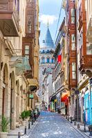 Galata tower, Istanbul street