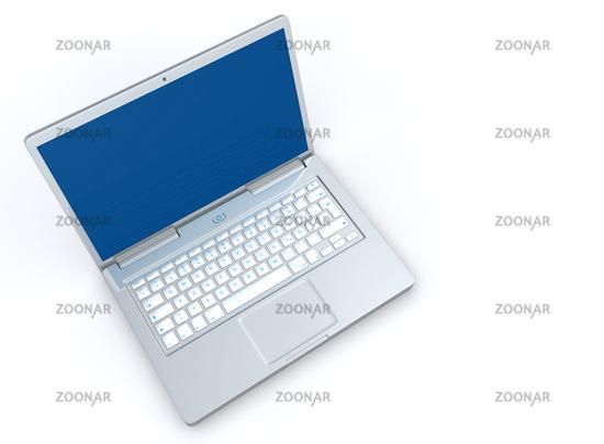 Laptop Silber Blau - Draufsicht