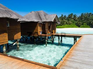 Vacation paradise over sea, maldives