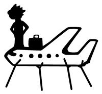 Airplane Propped Cartoon