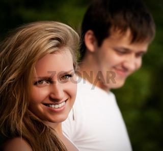 beautiful couple smiling
