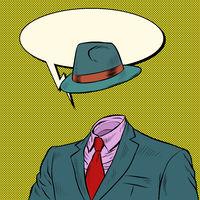 retro hat and suit. men clothing