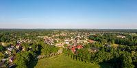 Panorama Burg im Spreewald Luftbild