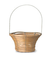 Front view of empty fruit basket