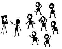 Star Teaching Cartoon Silhouette