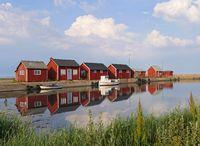 Fishing harbor on the island of Öland