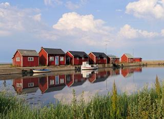 Fischerhafen auf der Insel Öland
