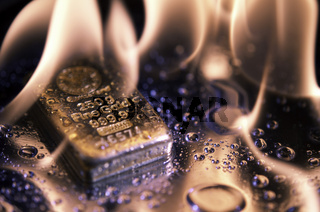 goldbars  and  flame