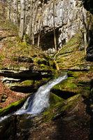 Falkensteiner Cave with Elsach spring, Swabian Alb