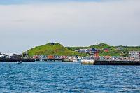 Skyline of the high sea island Helgoland, Germany