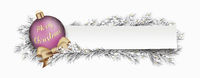 White Banner Pink Bauble Twigs Merry Christmas