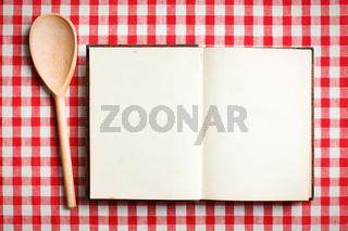 open old recipe book