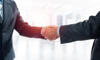 Close-up of the handshake of businessmen.