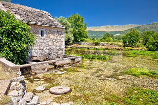 Old stone mill ruins on Cetina river source
