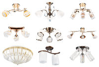 Lamps collection. Perspective view #3   Isolated