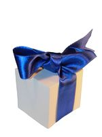 Gift with blue bow
