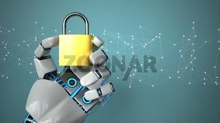 Robot Hand DLock, Network Security