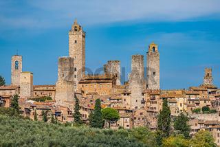 The village of San Giminignano