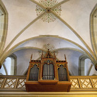 Organ in the Catholic parish church St. Laurentius, Herne, Ruhr area, Germany, Europe