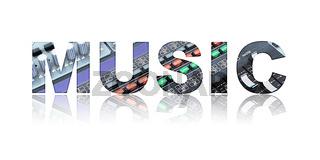 Music Text Concept
