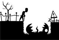 Pitfall Monster Cartoon