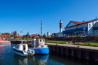 Fischerboote im Hafen von Timmendorf auf der Insel Poel