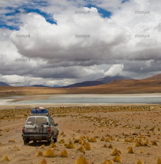 driving desert road