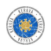 Kerava city postal rubber stamp